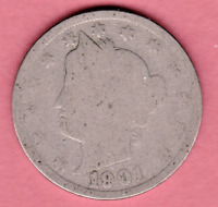 1901 LIBERTY NICKEL IN ABOUT GOOD  CONDITION  PLEASE SEE THE SCAN    STK B