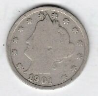 1901 LIBERTY NICKEL IN GOOD  CONDITION  PLEASE SEE THE SCAN  STK 4