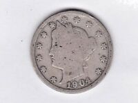 1904 LIBERTY NICKEL IN GOOD  CONDITION  PLEASE SEE THE SCAN    STK V151