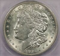 1921-D 1921 MORGAN SILVER DOLLAR ICG MINT STATE 62