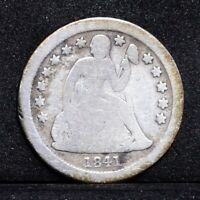 1841-O SEATED LIBERTY DIME - GOOD DETAILS 31096