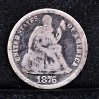 1876-CC SEATED LIBERTY DIME - VG DETAILS 31124