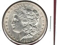 1890-S MORGAN SILVER DOLLAR CHOICE BU  WHITE CARTWHEEL LUSTER C3502