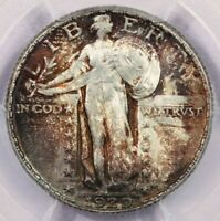 1929-P 1929 STANDING LIBERTY QUARTER PCGS MINT STATE 65 BEAUTIFUL COLOR HANDSOMELY TONED