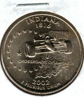 2002 D INDIANA STATE QTR FROM MINT SET MIGHT SELL ON 1ST BID