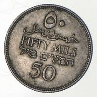 SILVER ROUGHLY SIZE OF QUARTER 1927 PALESTINE 50 MILS WORLD