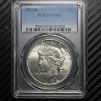 1926 S PEACE SILVER DOLLAR PCGS MINT STATE 63 05089