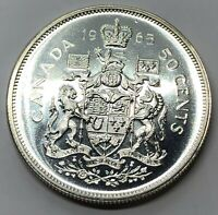 1965 CANADA 50 CENT HALF DOLLAR SILVER PROOF COIN  G235