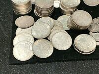 1921 EXTRA FINE /AU/UNC MORGAN DOLLARS, QTY. 5 COINS IN ORDER FROM ESTATE COLLECTION