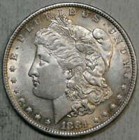 1881-O MORGAN DOLLAR, ALMOST UNCIRCULATED,  COLOR      0703-12