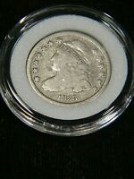 1835 CAPPED BUST DIME GOOD/VG WITH FULL LIBERTY IN AIRTIGHT CAP DP13