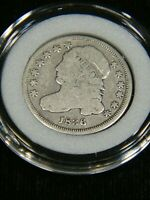 1836 CAPPED BUST DIME GOOD/VG WITH LIBERTY IN AIRTIGHT CAP DP12