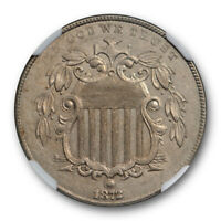 1872 5C SHIELD NICKEL NGC AU 58 ABOUT UNCIRCULATED BETTER DATE TOUGH GRADE