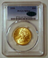 1898 $10 LIBERTY GOLD EAGLE MINT STATE 64 PCGS CAC STICKER