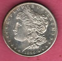 1890-S MORGAN SILVER DOLLAR GRADES ALMOST UNCIRCULATED  C2631