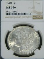 1903 MORGAN SILVER DOLLAR NGC MINT STATE 66 BLAST WHITE SUPERB FROSTY LUSTER PQ G755