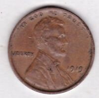 1919 LINCOLN CENT IN EXTRA FINE CONDITION  PLEASE SEE THE SCAN    STK X4