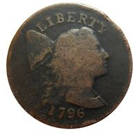 LARGE CENT/PENNY 1796 CAPPED BUST MID GRADE DETAILS NICE