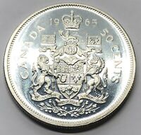 1965 CANADA 50 CENT HALF DOLLAR SILVER PROOF COIN  G239