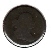 1807 DRAPED BUST HALF CENT GRADES ALMOST GOOD READ C3368