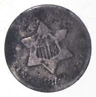 SILVER TRIME 1852 THREE CENT SILVER 3 CENT EARLY US COIN LO