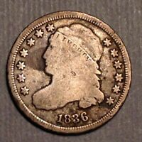 1836 US CAPPED BUST DIME 10 CENTS