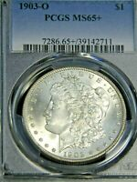 1903-O MORGAN SILVER DOLLAR PCGS MINT STATE 65 BLAST WHITE SUPERB FROSTY LUSTER PQ G852