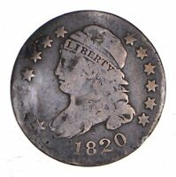 1820 CAPPED BUST DIME - CIRCULATED 1154