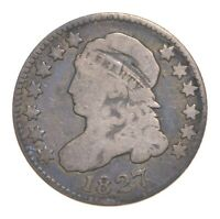 1827 CAPPED BUST DIME 4618