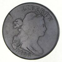 1796 DRAPED BUST LARGE CENT 2477