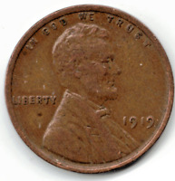 1919  LINCOLN CENT IN FINE  CONDITION  PLEASE SEE THE SCAN   STK 2010