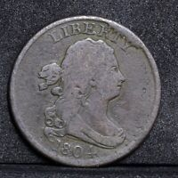 1804 HALF CENT - CROSSLET 4 WITH STEMS - FINE DETAILS 31553