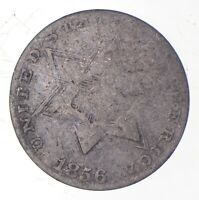 SILVER TRIME 1856 THREE CENT SILVER 3 CENT EARLY US COIN LOO