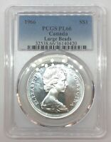 1966 CANADA SILVER DOLLAR 1$ COIN PCGS PROOF PL66