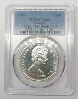 1965 CANADA SILVER DOLLAR 1$ COIN PCGS PROOF PL66