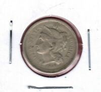 1866 3-CENT NICKEL GRADES  FINE  LOOKER HERE JC232