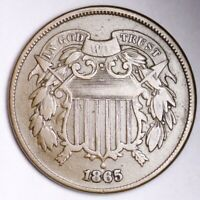 1865 TWO CENT PIECE CHOICE EXTRA FINE  SHIPS FREE E175 T