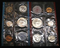 1964 PD MINT SET 10 COINS IN MINT CELLO WITH ENVELOPE FREE S