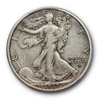 1917 S 50C OBVERSE WALKING LIBERTY HALF DOLLAR PCGS VF 30  FINE TO EXTRA FINE