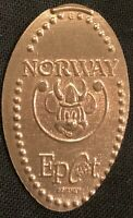 MICKEY WEARING A VIKING HAT - DISNEY WORLD EPCOT NORWAY PRESSED PENNY