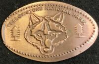 WOLF HEAD - YELLOWSTONE NATIONAL PARK WYOMING PRESSED PENNY