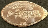 NEW DESIGN BASS FISH - CUYAHOGA VALLEY NATIONAL PARK OHIO PRESSED PENNY