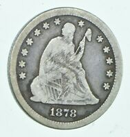 1878 CC SEATED LIBERTY QUARTER   CHARLES COIN COLLECTION  45