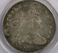 1798-P 1798 FLOWING HAIR DOLLAR ANACS VF35 DETAILS LARGE EAGLE ORIGINAL COLOR