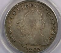 1803-P 1803 DRAPED BUST DOLLAR ANACS VF30 LARGE 3 BB-255 B-6 REPAIRED - WHIZZED