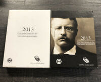 2013 US MINT COIN AND CHRONICLES SET THEODORE ROOSEVELT DAMAGE