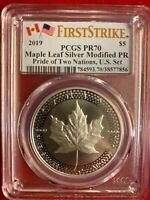 2019 CANADA MODIFIED PF SILVER MAPLE LEAF PCGS PR70 FS PRIDE