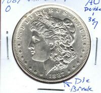 1887-O MORGAN DOLLAR VAM 2 DOUBLE 1 TRIPLE 7  CH.AU MULTIPLE DIE CRACKS C2958