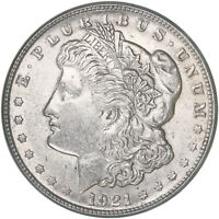 1921 S MORGAN SILVER DOLLAR ABOUT UNCIRCULATED AU
