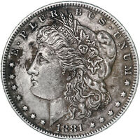 1881 O MORGAN SILVER DOLLAR EXTRA FINE  DETAILS STAINED REVERSE SEE PICS E613